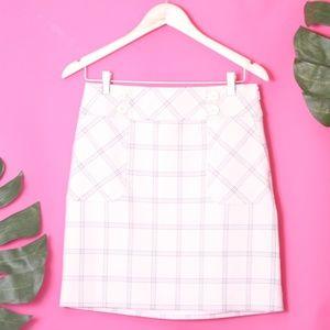 NWT LOFT Straight Skirt Size 2 Checkered